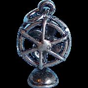 Vintage Sterling Fan Charm