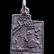 Sterling Utah Vintage Souvenir Charm