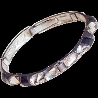 Fabulous LAPPONIA Sterling Finland Inlaid Vintage Bracelet