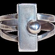 Gorgeous Modernist Sterling Vintage Ring - 9 1/4 - 9 1/2