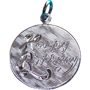 Vintage HAPPY BIRTHDAY Sterling Charm
