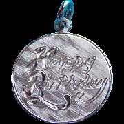 Vintage HAPPY BIRTHDAY Sterling Charm
