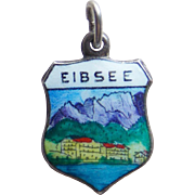 Vintage 800 Silver & Enamel Eibsee Charm
