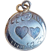 Sweet Tiny Double Heart Vintage Locket