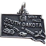 Sterling SOUTH DAKOTA Vintage Charm