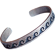Fabulous STERLING Wave Design Vintage Bracelet