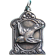 Gorgeous Sterling Bird in Flight Vintage Charm or Pendant