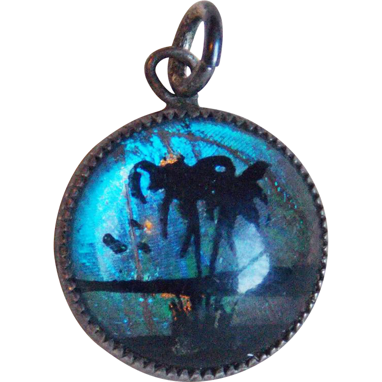 Hoffman Sterling Butterfly Wing Vintage Charm Or Pendant