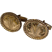 Awesome STERLING SILVER Vintage Hand Engraved Mexico Cufflinks