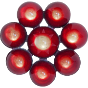 Fabulous 1940s Unusual Lucite & Early Plastic Vintage Brooch
