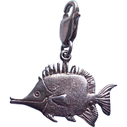 Sterling Tropical Fish Vintage Charm