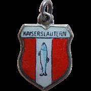 Vintage 800 Silver & Enamel Kaiserslautern Charm