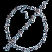 Gorgeous Trifari Bow Link Vintage Necklace Bracelet Set