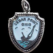 Vintage Sterling & Enamel Cedar Point Ohio Enamel Charm
