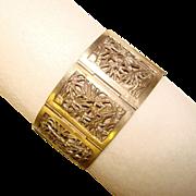 Fabulous CHINESE Bamboo Design Vintage Panel Bracelet