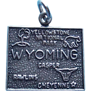 Vintage Sterling Wyoming Charm