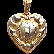 Gorgeous 14K GF Signed PSCO Heart Vintage Locket