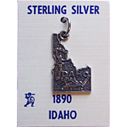 Awesome IDAHO Sterling Vintage Charm - on Card