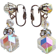 Gorgeous LAGUNA Aurora Crystal Vintage Earrings