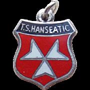 Vintage Sterling & Enamel T S Hanseatic Charm