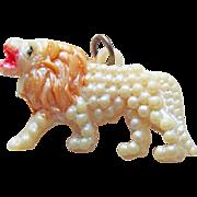 Vintage Celluloid Roaring Lion Charm
