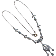 Fabulous ART DECO Paste Rhinestone Necklace
