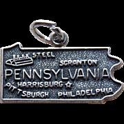 Awesome Sterling Pennsylvania Vintage Souvenir Charm