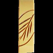Carved Bakelite Creamed Corn Vintage Dress Clip