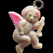 Vintage Celluloid Angel Charm