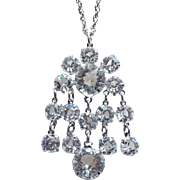 Gorgeous Open Backed Crystal Vintage Necklace