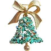 Gorgeous MYLU Christmas Bell Vintage Brooch