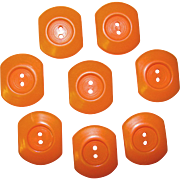 Awesome Pumpkin BAKELITE Vintage Buttons