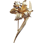 Gorgeous BOUCHER Daffodil Jonquil Vintage Brooch