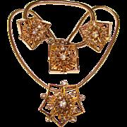 Fabulous HOBE Signed Rhinestone Necklace SET