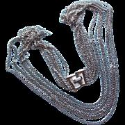 Swingy TRIFARI Signed Multi Chain Vintage Necklace