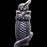Sterling OWL Vintage Charm
