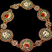 Fabulous Italian MICRO MOSAIC Vintage Bracelet