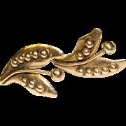 Fabulous Mexican Sterling Organic Design Vintage Earrings