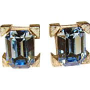 Awesome BLUE RHINESTONE Vintage Cufflinks