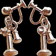 Super Cute CANDLESTICK PHONE Vintage Earrings