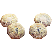 Art Deco Initial F Cufflinks