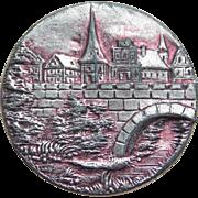 Antique Bridge & Village Large Picture Story Button