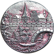 Antique Bridge & Village Large Picture Story Button