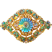 Fabulous MARGARITA Aurora CRYSTAL Vintage Pin Brooch