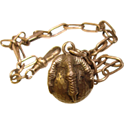 Awesome Antique Sterling BALL & CLAW Watch Chain