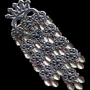 """Fabulous 5 1/4"""" 830S Silver Norwegian Solje Vintage Brooch"""