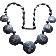 Fabulous SIAM STERLING Goddess Vintage Necklace