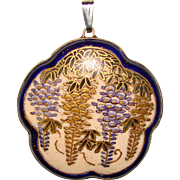 Antique Satsuma WISTERIA Flower Pendant