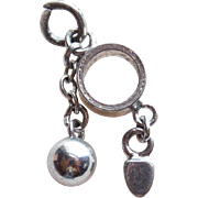 Sterling BALL & CHAIN Vintage Charm