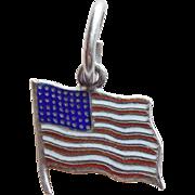 Sterling & Enamel 48 Star Flag Vintage Charm
